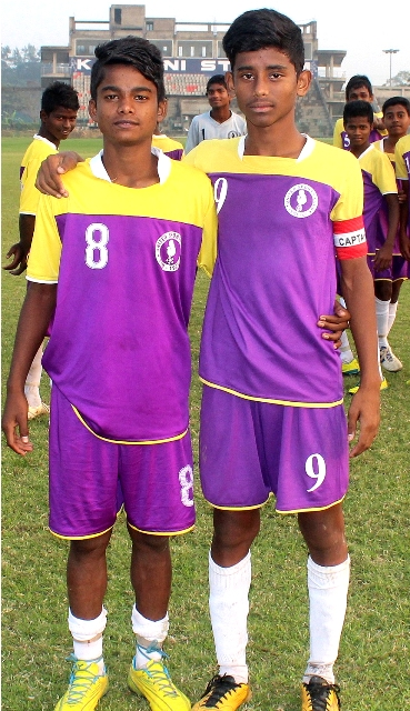 United SC vs East bengal match scorers from the right side Captain Sanjib Mondal and Tarak Hembram for United SC