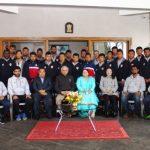 Mizoram Governor Lt Gen Nirbhay Sharma PVSM, UYSM, AVSM, VSM (Retd) meets Aizawl Football Club Players and Officials at Raj Bhavan